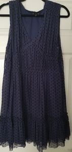 NWT Juicy Couture Navy Polk a Dot Dress